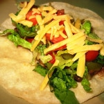 Black Bean Tacos w/ Roasted Peppers & Onions (gluten-free, vegan)
