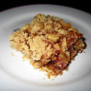 Raspberry Crumble (contains dairy, contains gluten)