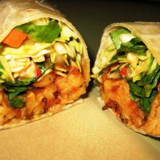 Seared Tempeh Wraps w/Thai Peanut Sauce (vegan, gluten-free option)