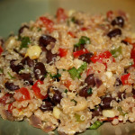 Quinoa w/Black Beans & Tomatoes (vegan, gluten-free)