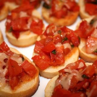 Double Tomato Bruschetta (vegan, gluten-free)