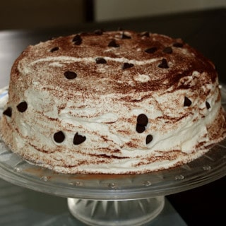 Tiramisu Cake (contains dairy, gluten-free option) – made again
