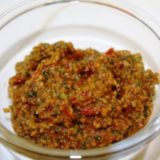 Sun-dried Tomato Pesto (gluten-free, vegan option)