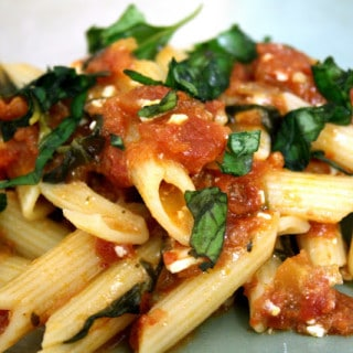 Penne Arrabiata w/Feta (gluten-free option, vegan-option)