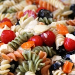 Summer Pasta Salad (gluten-free option, vegan option)