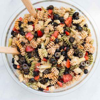 Quick & Easy Italian Pasta Salad Recipe (Vegan)