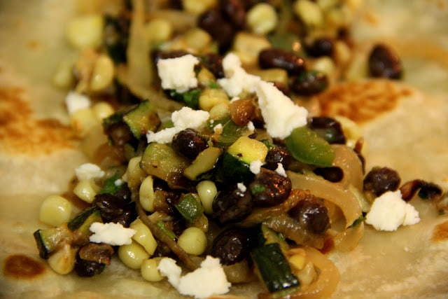 Corn, Zucchini, & Green Chili Burrito