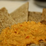 Roasted Red Pepper Hummus (vegan, gluten-free)