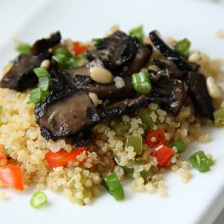 Portabello Mushrooms over Quinoa & Peppers (vegan, gluten-free)