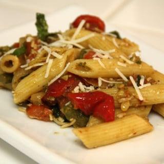 Pasta Primavera (vegan option, gluten-free option)
