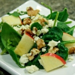 Apple, Gorganzola Cheese, & Walnut Salad (gluten-free, contains dairy)