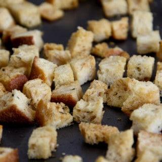 Homemade Croutons (gluten-free, vegan)