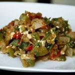 Greek-Style Eggplant Pita Sandwich (vegan option, gluten-free)