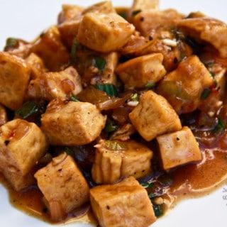Garlic Pepper Tofu (vegan, gluten-free)