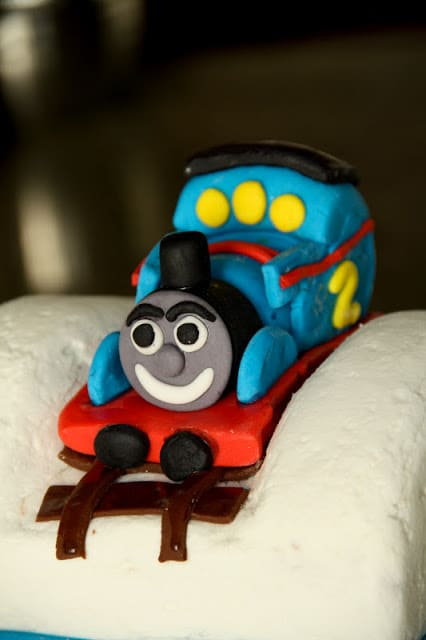 Thomas Train Cake Vegetarian Gastronomy