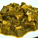 Palak (Spinach) Tofu (vegan, gluten-free)
