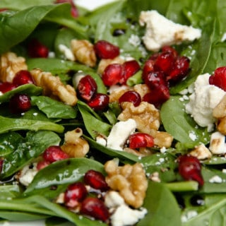Pomegranate, Feta, & Walnut Salad (gluten-free, contains dairy)