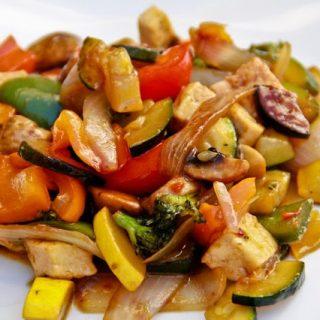 Tofu Veggie Stir Fry (vegan, gluten-free)