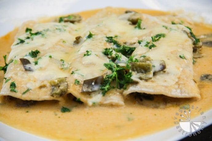Poblano Mushroom Enchiladas-11
