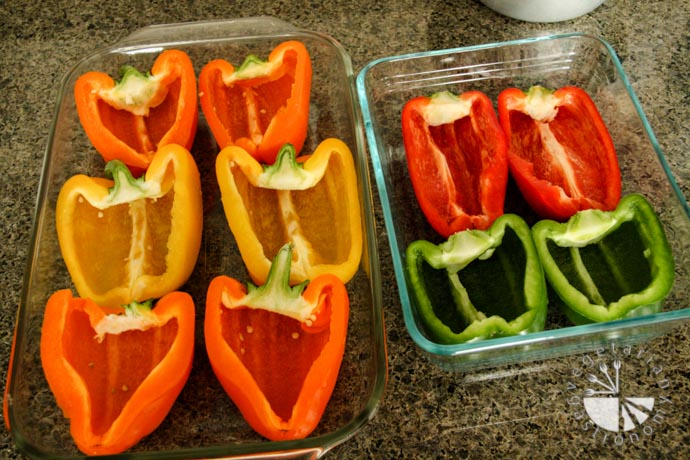 Stuffed Bell Peppers Brown Rice-4