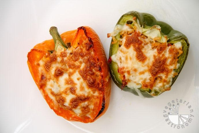 recipe: vegetarian stuffed peppers with brown rice [5]