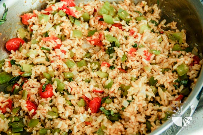 Stuffed Bell Peppers Brown Rice-8