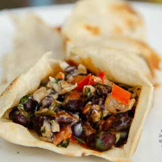 Special Black Bean Burritos w/Veggies (vegan, gluten-free option)