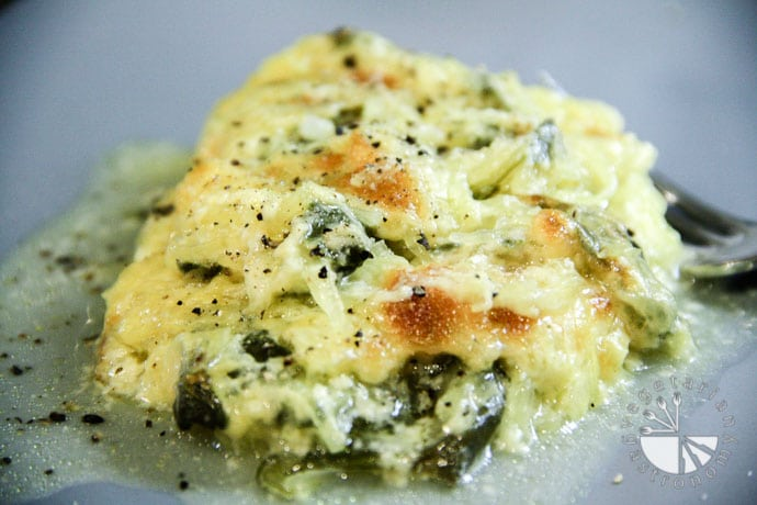 baked spaghetti squash with spinach-2