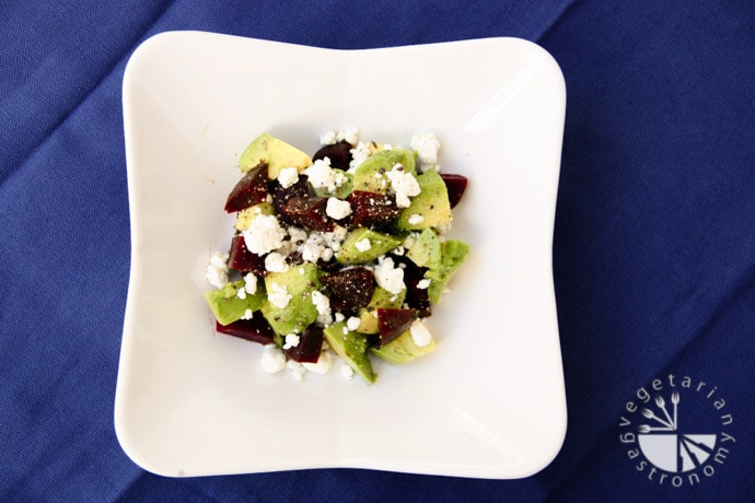 beet avocado goat cheese salad-2