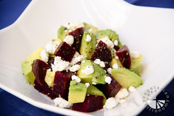 beet avocado goat cheese salad-4