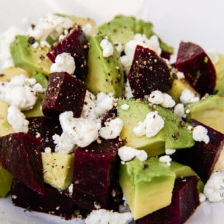 Beet, Avocado, & Goat Cheese Salad (gluten-free, contains dairy)