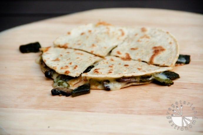 poblano mushroom quesadilla-4