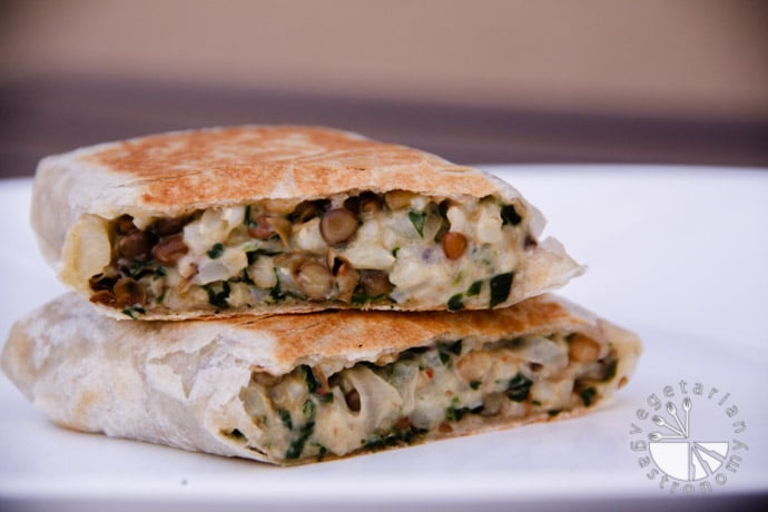 lentil brown rice spinach wraps-5