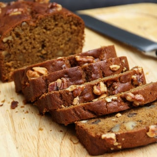 Pumpkin Walnut Bread (vegan, contains gluten)
