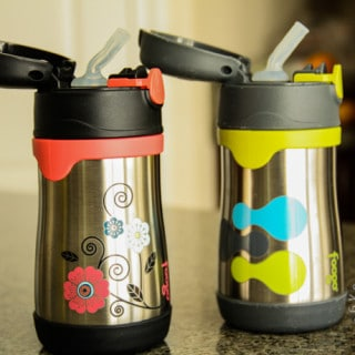 Product: Kids/Toddlers Thermos Straw Bottle