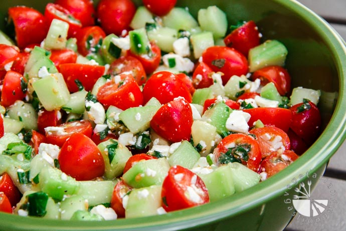 cucumber tomato mint salad-3