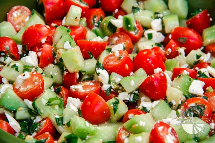 cucumber tomato mint salad-4