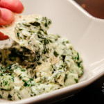 Spinach Artichoke Dip (gluten-free, contains dairy)