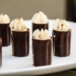Dark Chocolate Tiramisu Mousse Squares (gluten-free, contains dairy)