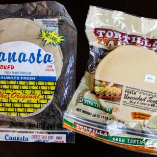 Product: Uncooked Tortillas (vegan, gluten-free option)