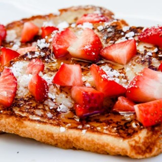 Mother's Day Eggless French Toast (vegan option, contains dairy)