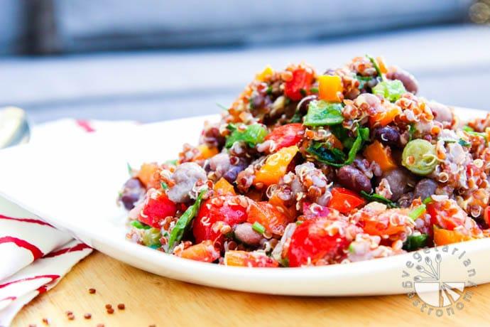 four bean quinoa veggie tacos-2
