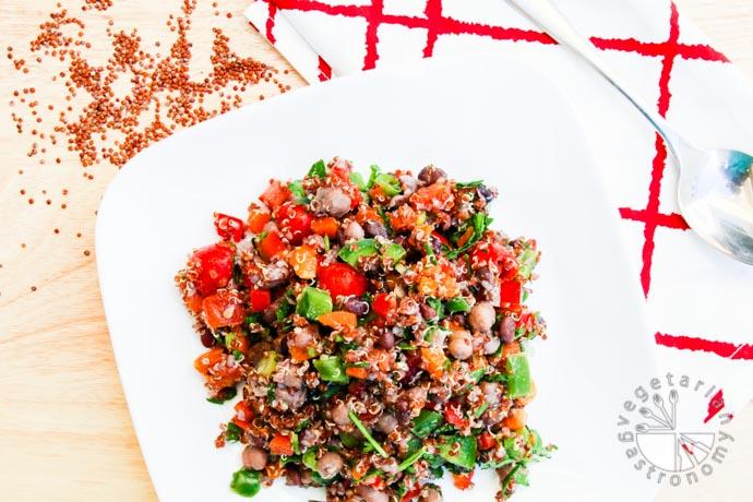 four bean quinoa veggie tacos-6