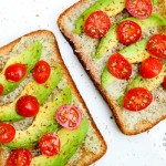 Avocado, Cherry Tomato Toast (vegan, gluten-free option)