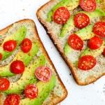 Avocado, Cherry Tomato Toast (vegan, gluten-free option)