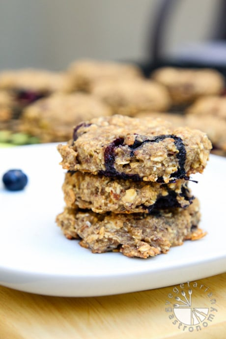 blueberry banana breakfast cookies-6