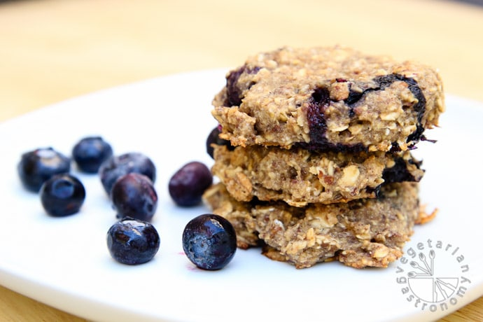 blueberry banana breakfast cookies-7