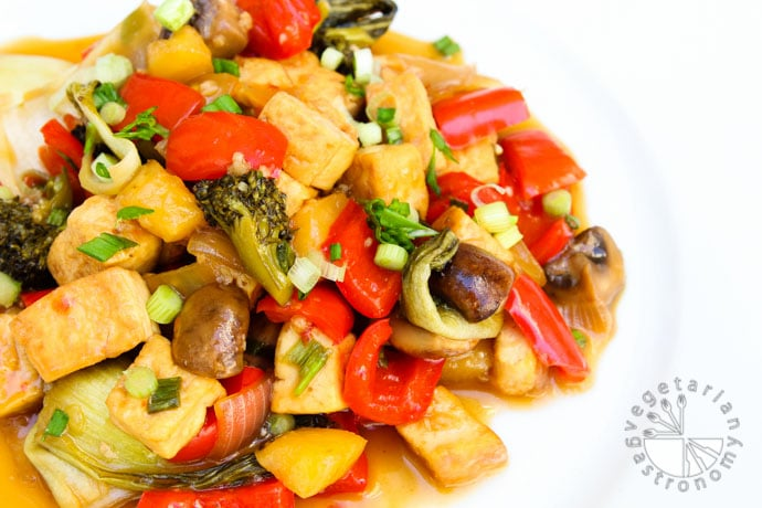 sweet and sour tofu veggies-11
