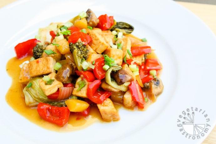 sweet and sour tofu veggies-7
