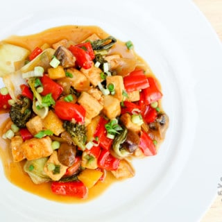 Sweet & Sour Tofu with Vegetables (vegan, gluten-free) – Guest Post for The Picky Eater